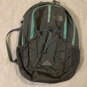 The North Face Jester backpack grey/green
